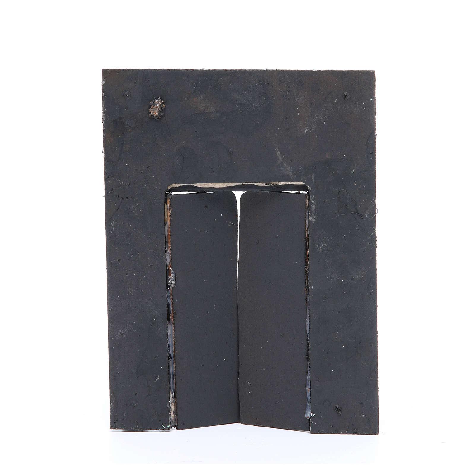 Parede com portão 20x15x2,5 cm para presépio 4