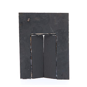 Parede com portão 20x15x2,5 cm para presépio s2