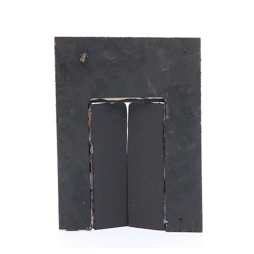 Parede com portão 20x15x2,5 cm para presépio 2