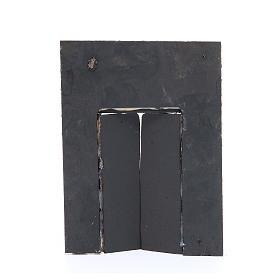 Wall with door for nativities measuring 20x15x2.5cm s2