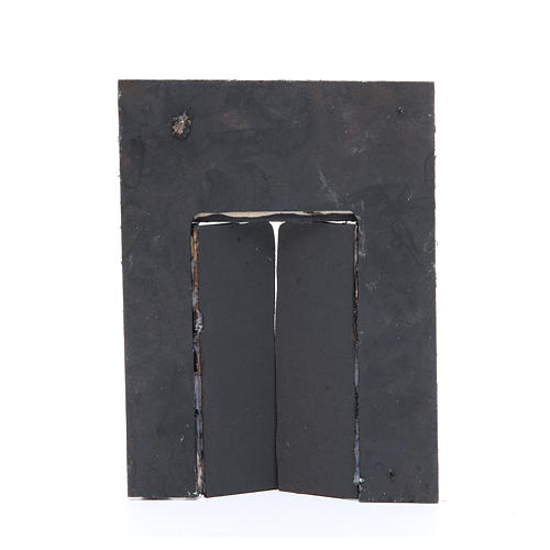 Wall with door for nativities measuring 20x15x2.5cm 2
