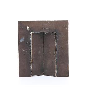 Wall with door for nativities measuring 17x15x1cm s2