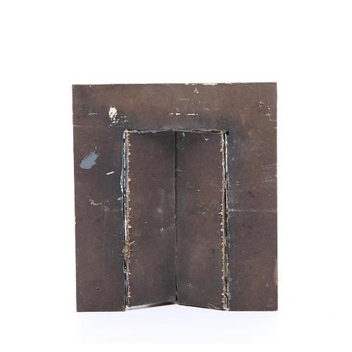 Wall with door for nativities measuring 17x15x1cm 2