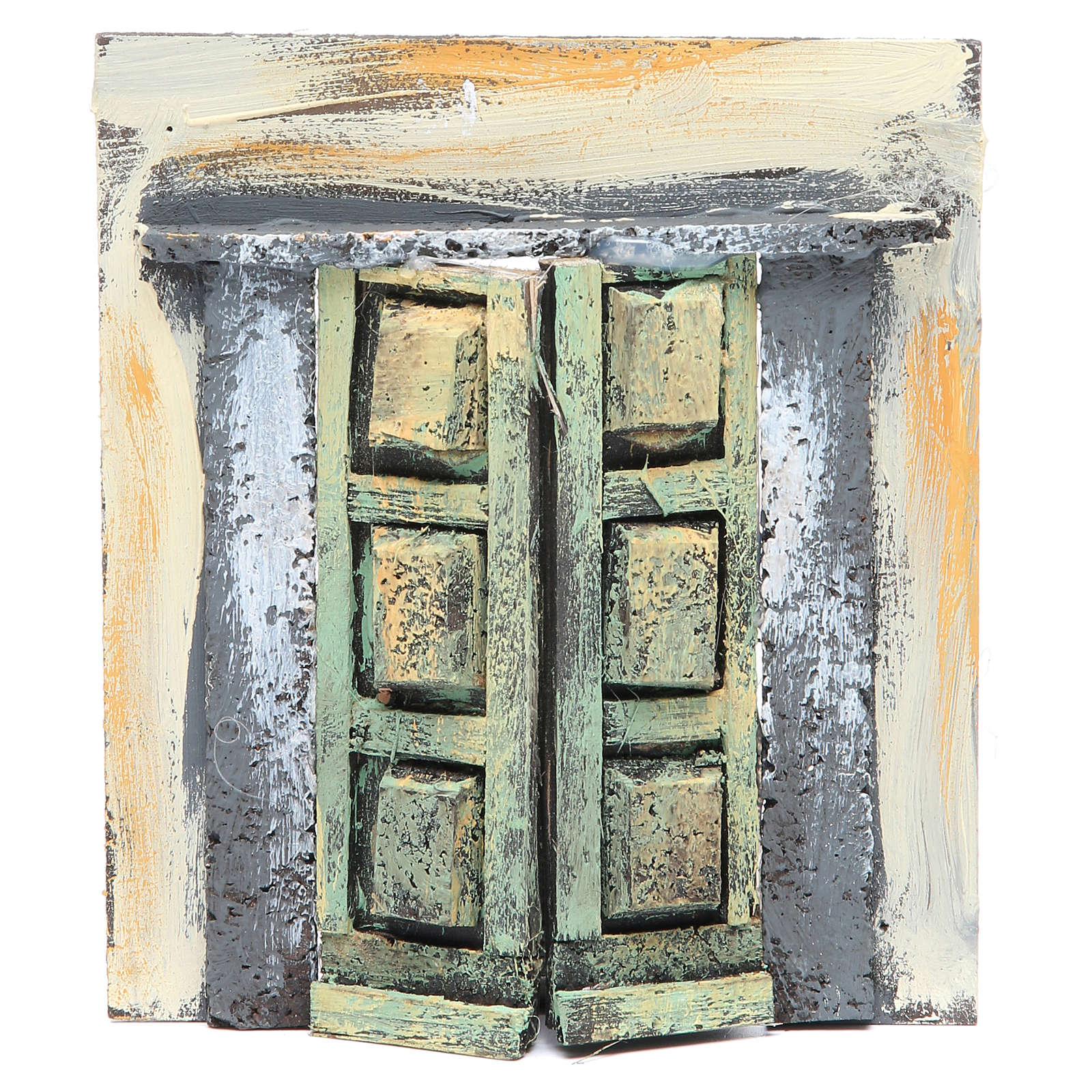 Mur avec portail 17x15x1 cm crèche 4
