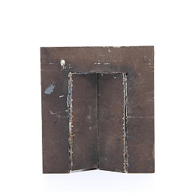 Mur avec portail 17x15x1 cm crèche s2