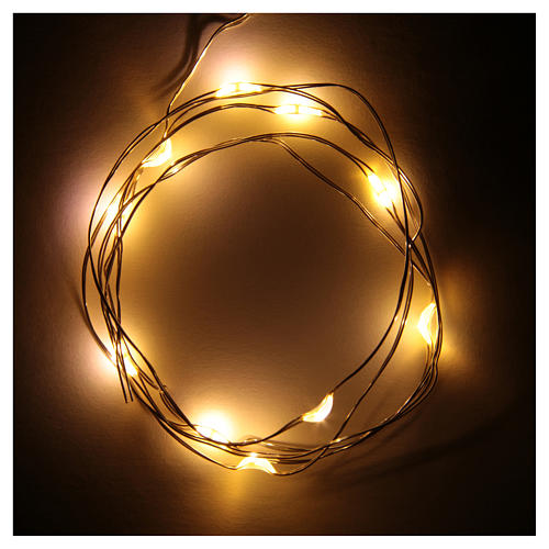 LED Christmas lights, 10 drop shaped, multicoloured and battery powered 2