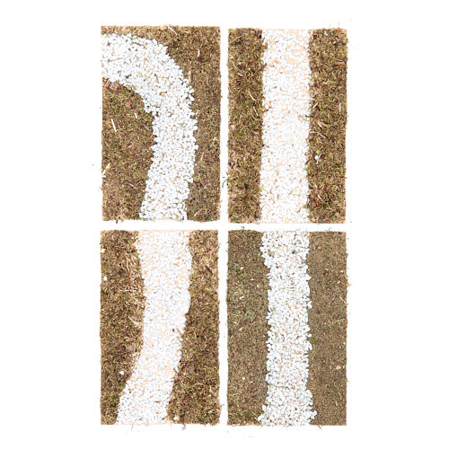Stradina componibile presepe 4 pezzi 16x19 1