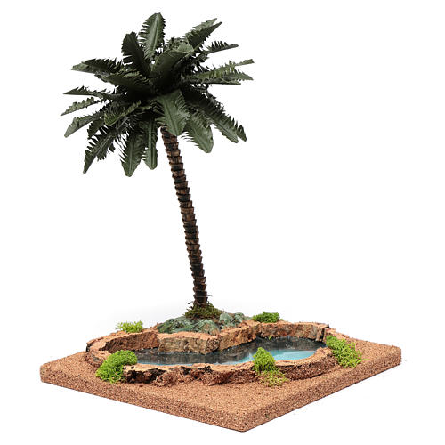 Palm tree for DIY nativities with pond 35x18x18cm 2