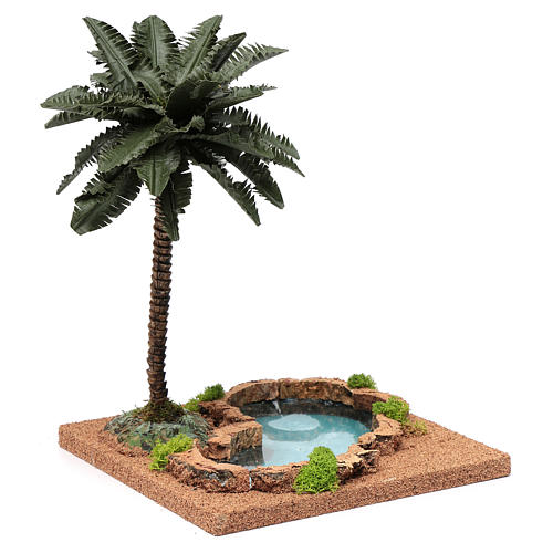 Palm tree for DIY nativities with pond 35x18x18cm 3