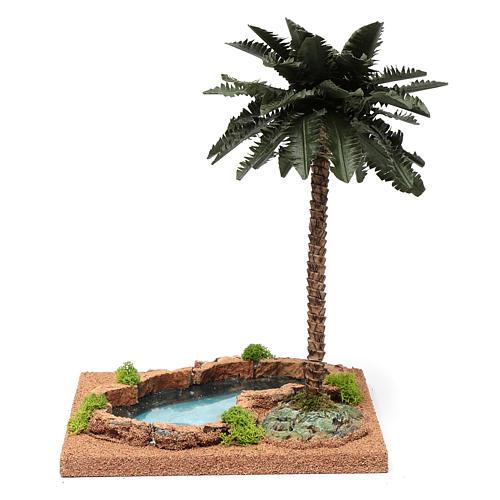 Palma presepe con laghetto 35x18x18 4