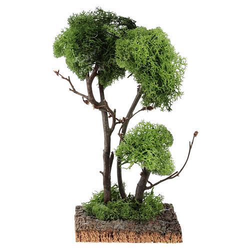 Arbre avec lichen sur rocher 13x8x8 cm 1