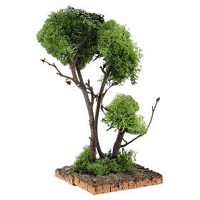Tree with lichens on rock for DIY nativities 13x18x18cm s3