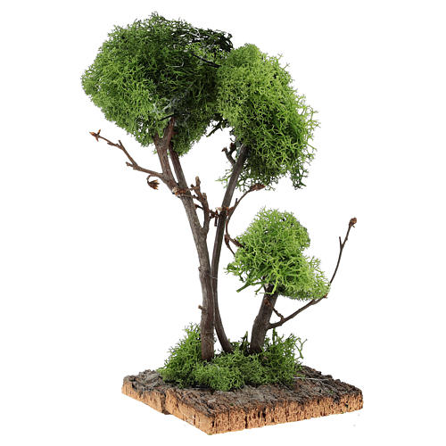 Tree with lichens on rock for DIY nativities 13x18x18cm 3