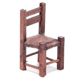 Sedia legno 5X2,5X2,5 cm presepe napoletano s1
