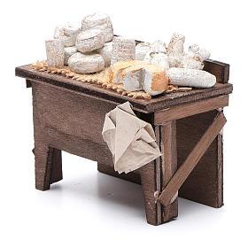 Tavolo dei formaggi presepe napoletano 7X8,5X6 cm s2