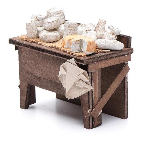 Tavolo dei formaggi presepe napoletano 7X8,5X6 cm 2