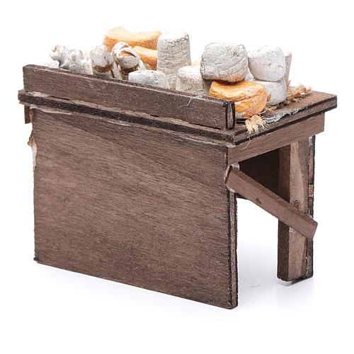 Tavolo dei formaggi presepe napoletano 7X8,5X6 cm 4