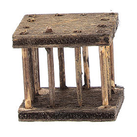 Cage 2,5x3x2,5 cm for Neapolitan nativity s1