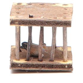Gabbietta presepe napoletano 2,5x3x2,5 cm s1