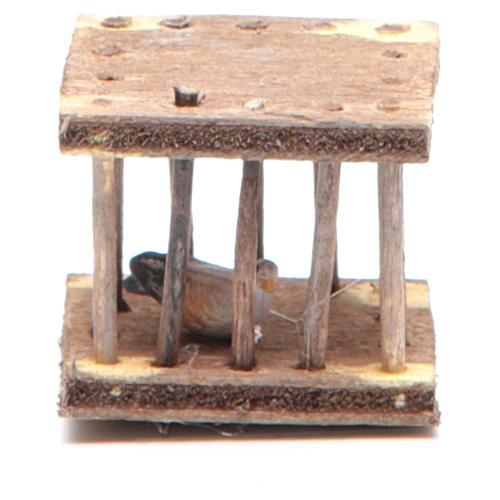 Gabbietta presepe napoletano 2,5x3x2,5 cm 1