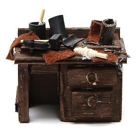 Shoemaker's stall 5,5x9,5x5cm for Neapolitan nativity s1