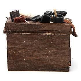 Shoemaker's stall 5,5x9,5x5cm for Neapolitan nativity s4