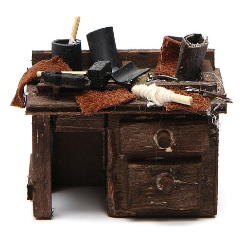 Shoemaker's stall 5,5x9,5x5cm for Neapolitan nativity 1