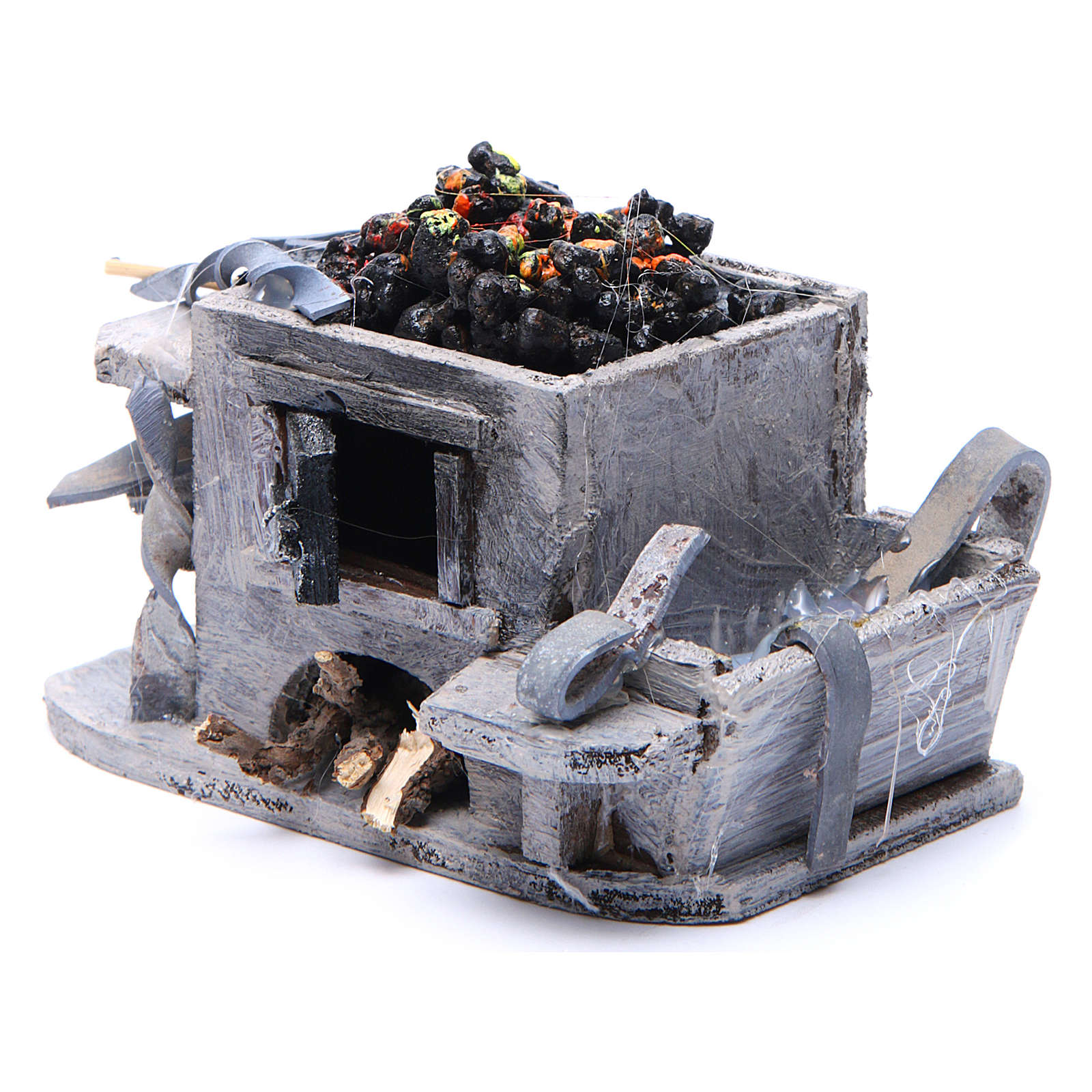 Neapolitan Nativity accessory: forge measuring 6x8.5x6cm 4
