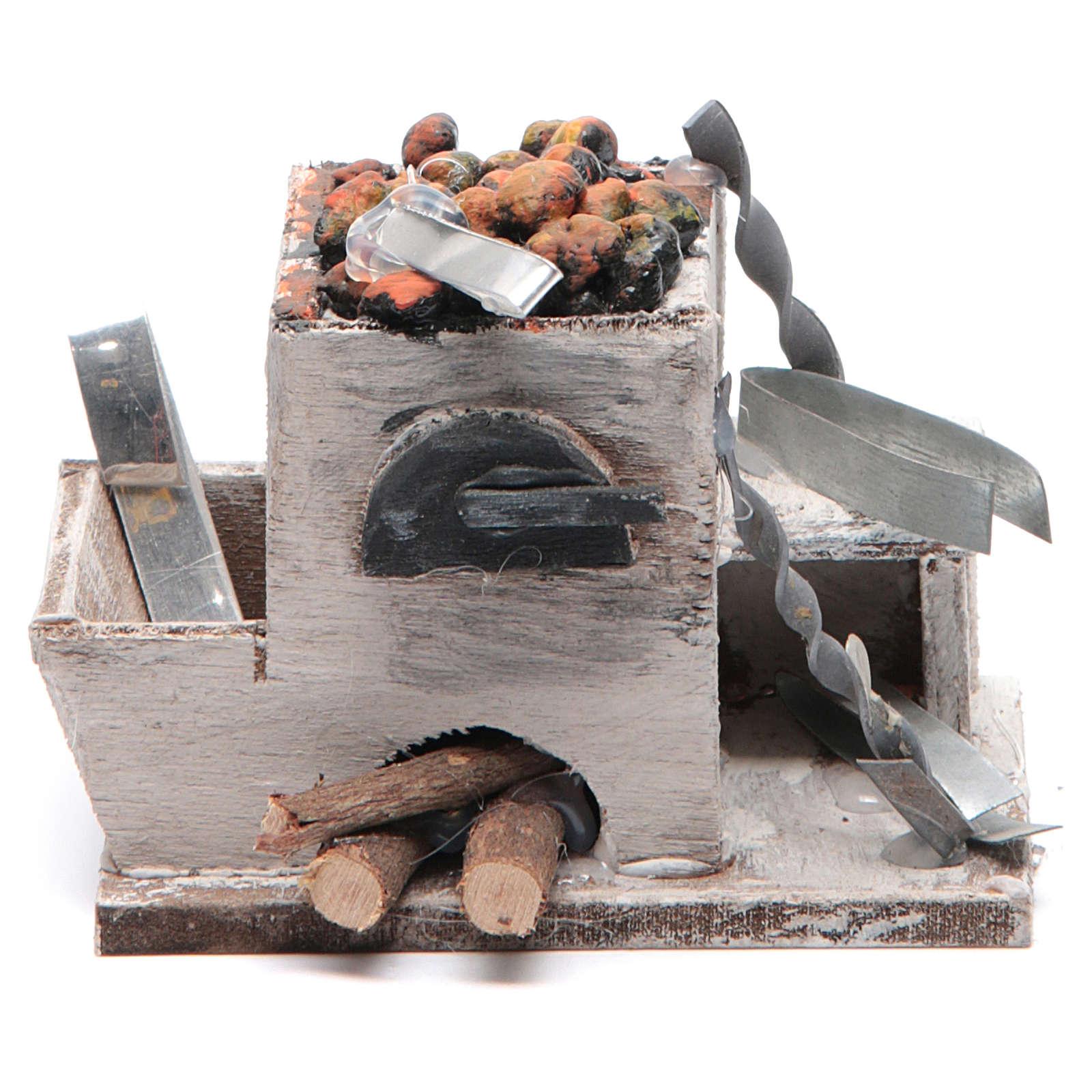Forge crèche napolitaine 6x8,5x6 cm 4
