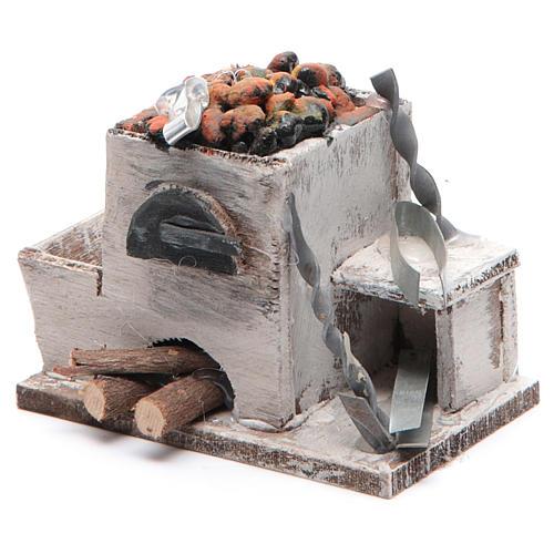 Forge crèche napolitaine 6x8,5x6 cm 2