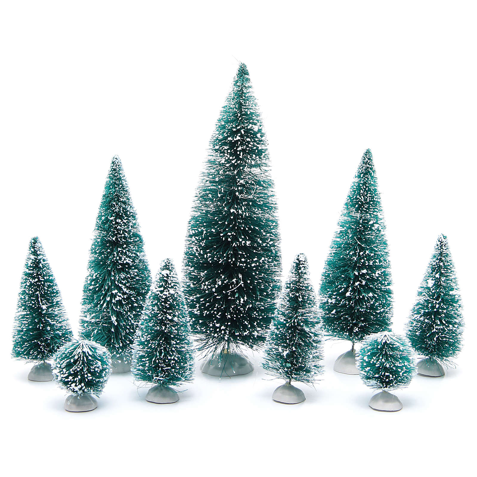 Nativity scene assorted trees 9 pieces various sizes 4