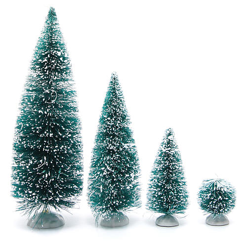 Nativity scene assorted trees 9 pieces various sizes 2
