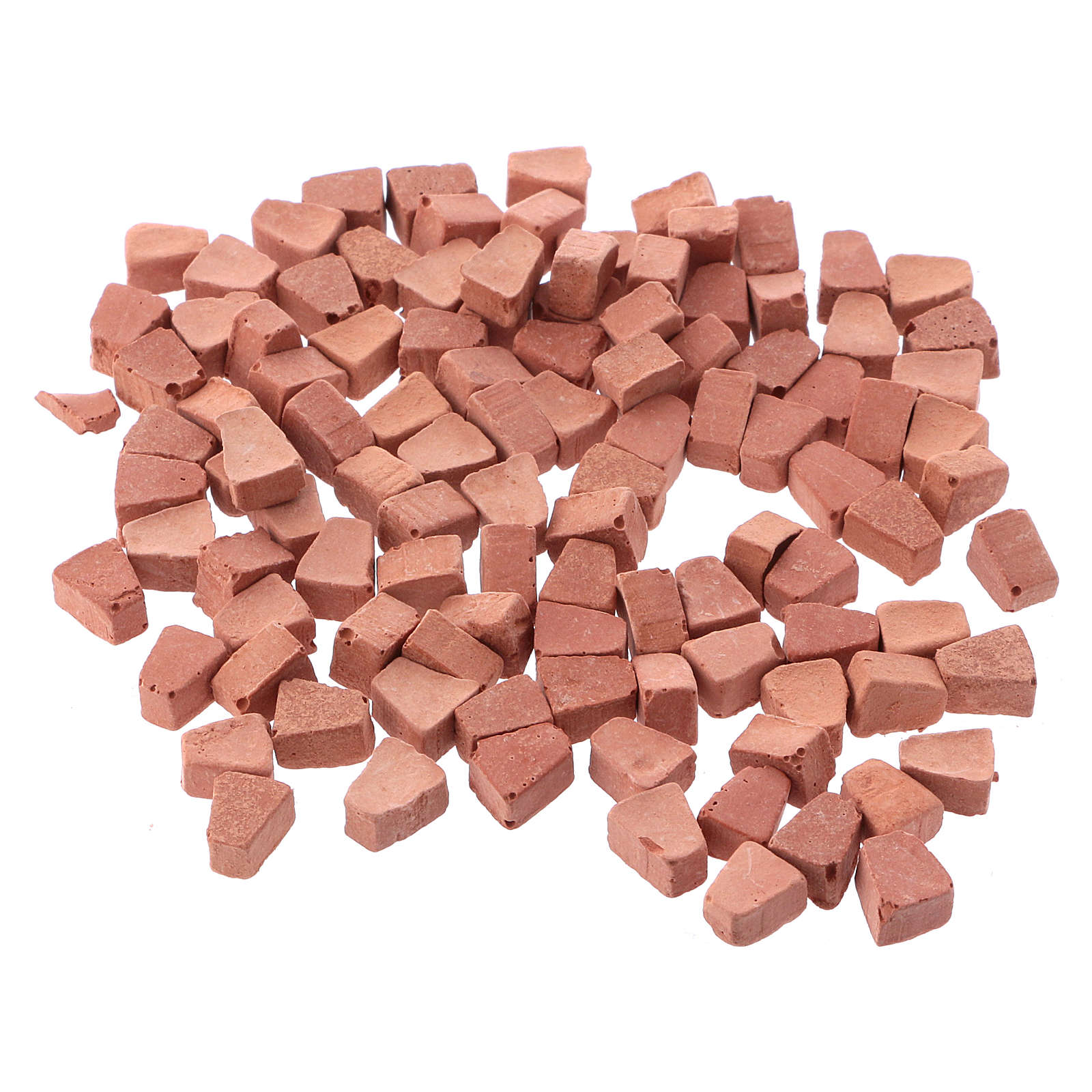 Arched bricks in resin terracotta colour 5x5 mm 100 pieces 4