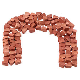 Arched bricks in resin terracotta colour 5x5 mm 100 pieces s1