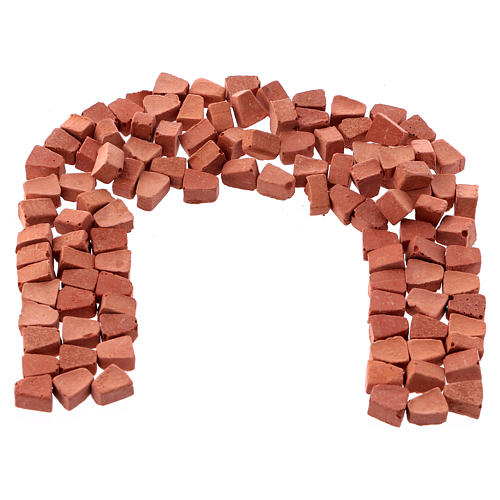 Arched bricks in resin terracotta colour 5x5 mm 100 pieces 1