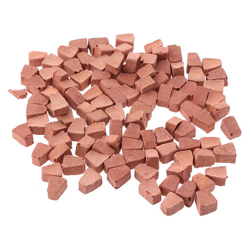 Arched bricks in resin terracotta colour 5x5 mm 100 pieces 2