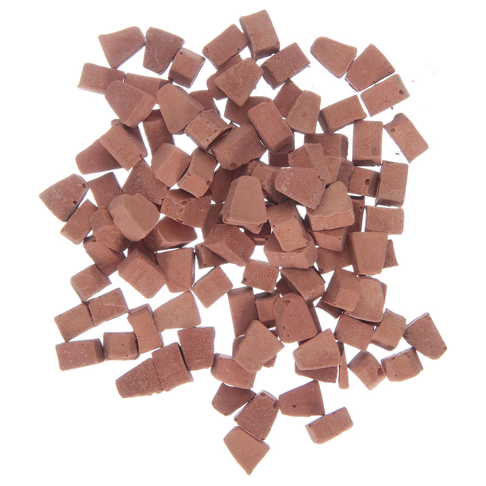 Mattoni ad arco in resina colore terracotta 5x5 mm set. 100 pezzi 4