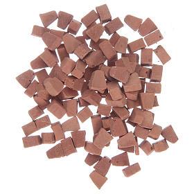 Mattoni ad arco in resina colore terracotta 5x5 mm set. 100 pezzi s1