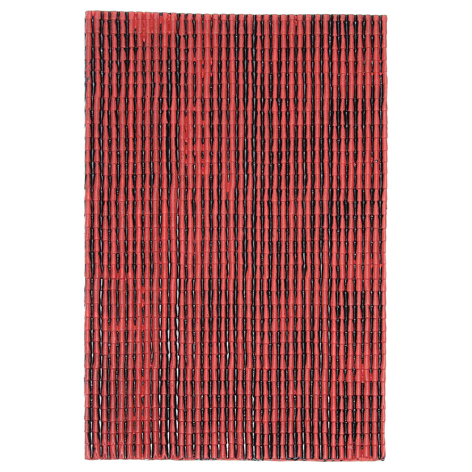 Couleur Avec Du Rouge panneau en plastique toit avec tuile couleur rouge 50x30 cm