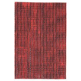 Pannello in plastica tetto con tegole colore rosso 50x30 cm s1