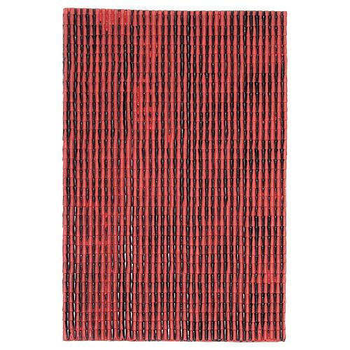 Pannello in plastica tetto con tegole colore rosso 50x30 cm 1