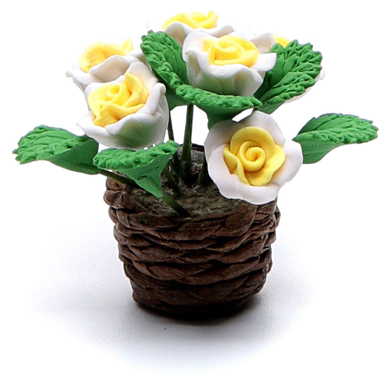 Vaso com flores acessório para presépio modelos vários 4