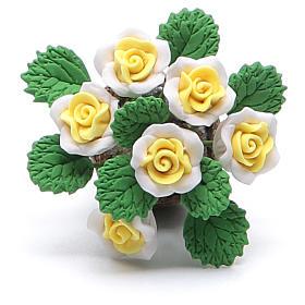 Vaso com flores acessório para presépio modelos vários s2