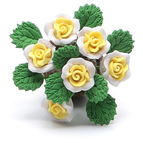 Vaso com flores acessório para presépio modelos vários 2