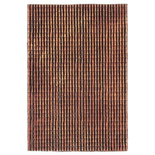 Panel de plástico para techo con tejas de color rojo degradado dim. 50x30 1