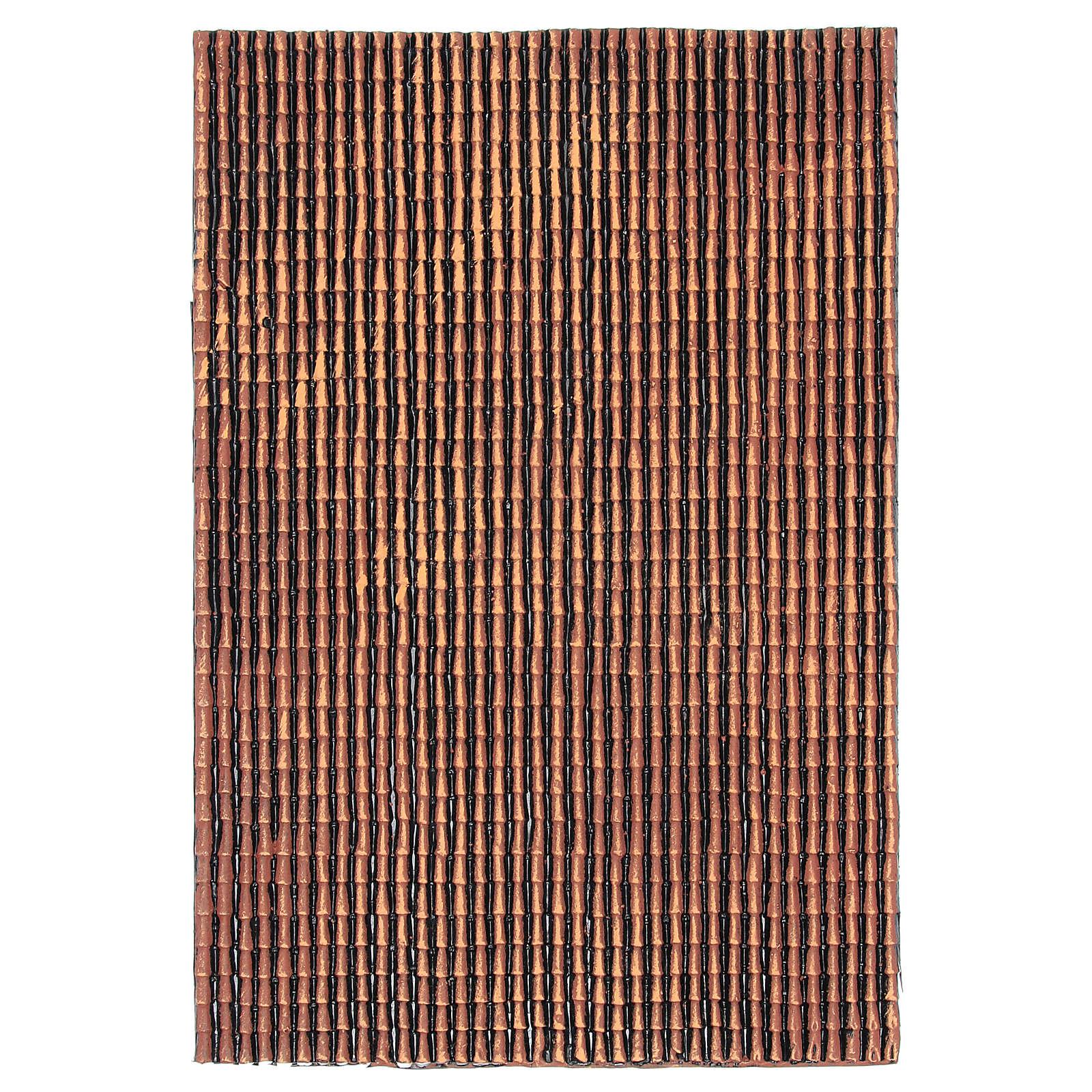 Pannello in plastica per tetto con tegole di colore rosso sfumato dim. 50x30 4