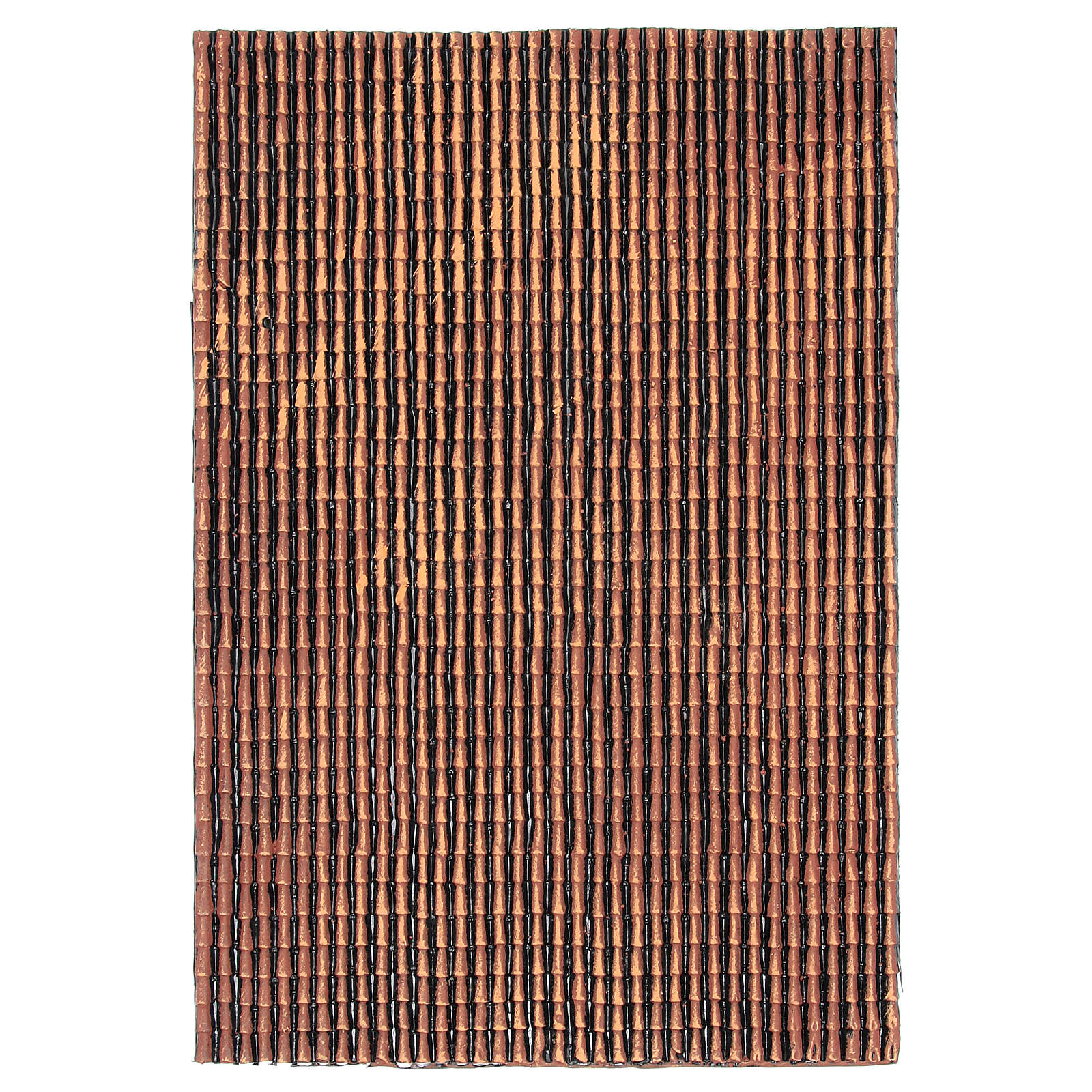 Panel z plastiku do dachu z dachówkami w odcieniach koloru czerwonego wielkość 50x30 4