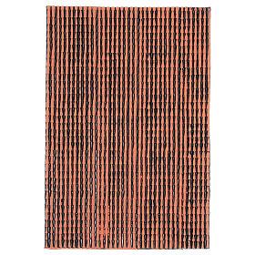 Pannello in plastica per tetto con tegole di colore terracotta dim. 50x30 s1