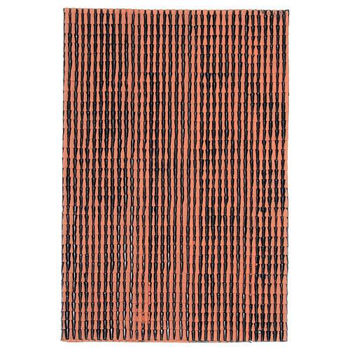 Pannello in plastica per tetto con tegole di colore terracotta dim. 50x30 1