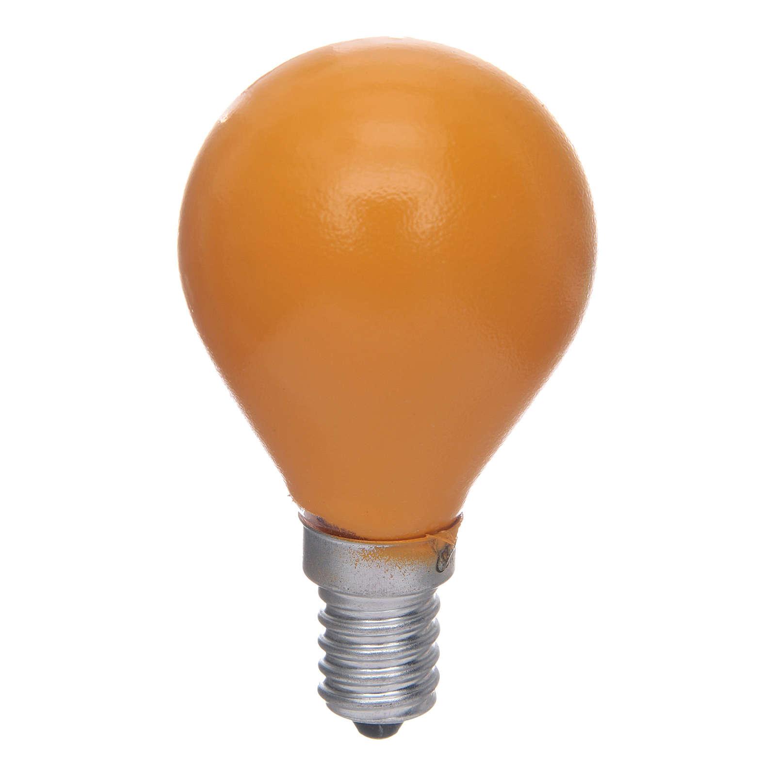 Lampada a sfera E14 25W Giallo 4